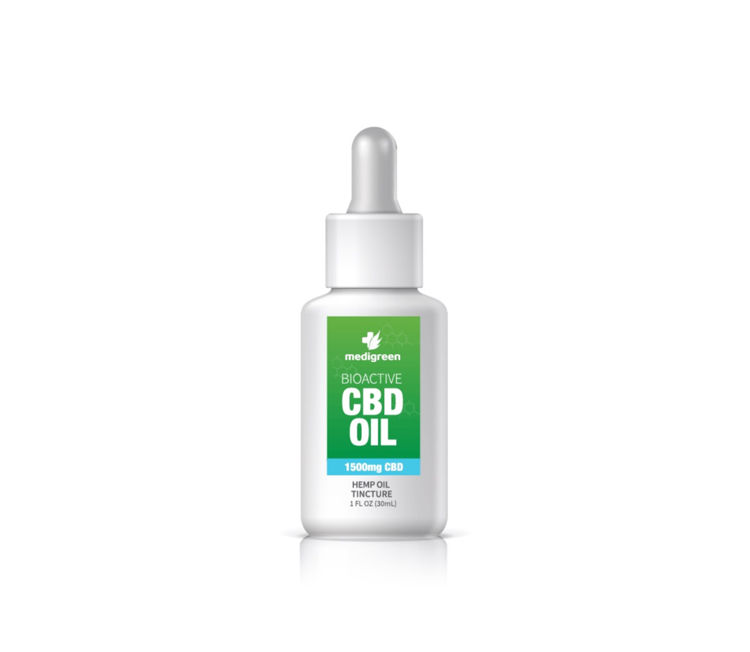 1x MediGreen Bioactive CBD Hemp Oil Tincture – 1500mg CBD (30ml)