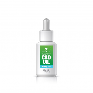 1 x MediGreen Bioactive CBD Hemp Oil Tincture – 2500mg CBD (30ml)
